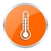 Thermometer orange glossy icon — Stock Photo