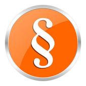 Odstavec oranžové lesklé ikona — Stock fotografie