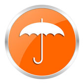 Umbrella orange glossy icon — Stockfoto