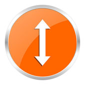 Arrow orange glossy icon — Stock Photo