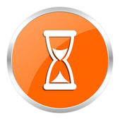Time orange glossy icon — Stock Photo