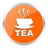 Tea orange glossy icon — Stock Photo