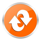 Rotation orange glossy icon — Stock Photo