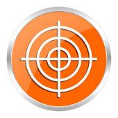 Target orange glossy icon — Stock Photo