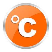 Celsius orange glossy icon — Stock Photo