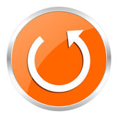 Rotate orange glossy icon — Stock Photo