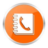 Phonebook orange glossy icon — Stock Photo
