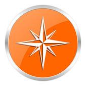 Compass orange glossy icon — Stock Photo