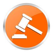 Auction orange glossy icon — Stock Photo