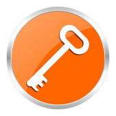 Key orange glossy icon — Stockfoto