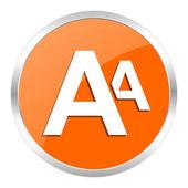 Alphabet orange glossy icon — Stock Photo