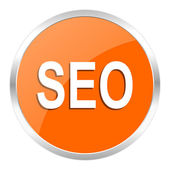 Seo orange glossy icon — Stock Photo