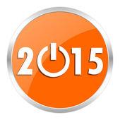 Nuevo año 2015 naranja brillante icono — Foto de Stock
