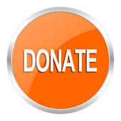Donate orange glossy icon — Stock Photo
