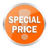 特別価格オレンジ色の光沢のあるアイコン — ストック写真