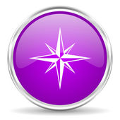 Compass pink glossy icon — Stock Photo