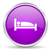 Hotel pink glossy icon — Stock Photo