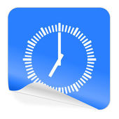 Time blue sticker icon — Stock Photo