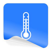 Thermometer blue sticker icon — Stock Photo