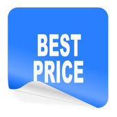 Best price blue sticker icon — Stock Photo