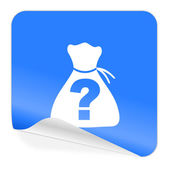 Riddle blue sticker icon — Stock Photo