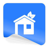 House blue sticker icon — Stock Photo