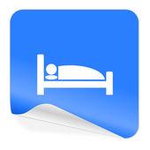Hotel blue sticker icon — Stock Photo