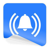 Alarm blue sticker icon — Stock Photo