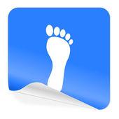 Piede icona bollino blu — Foto Stock