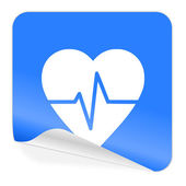 Pulse blue sticker icon — Stock Photo