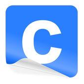 Copyright blue sticker icon — Stock Photo