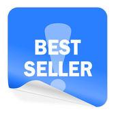 Best seller blue sticker icon — Stock Photo