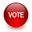 Vote red computer icon on white background — Stock Photo #47893359