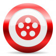 Film glossy web icon — Stock Photo #47896191