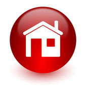 House red computer icon on white background — Foto Stock