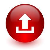 Subir el icono pc rojo sobre fondo blanco — Foto de Stock