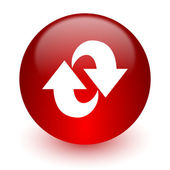 Rotation red computer icon on white background — Foto Stock