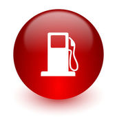 Petrol red computer icon on white background — Stock Photo