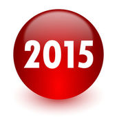New year 2015 red computer icon on white background — Foto Stock