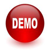 Demo czerwony ikona na białym tle — Zdjęcie stockowe