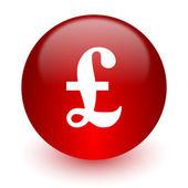 Libra ícone de computador vermelho sobre fundo branco — Foto Stock