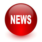 News red computer icon on white background — Stock Photo