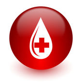 Blood red computer icon on white background — Stok fotoğraf