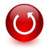 Rotate red computer icon on white background — Stockfoto