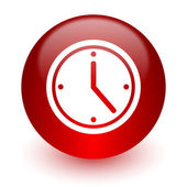 Time red computer icon on white background — Foto Stock