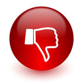 Dislike red computer icon on white background — 图库照片