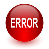 Error red computer icon on white background — Stock Photo