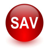 Sav red computer icon on white background — Stock fotografie
