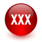 Xxx red computer icon on white background — Stock fotografie