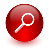 Search red computer icon on white background — Stock fotografie